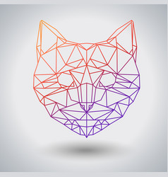 Hipster polygonal animal cat triangle animal vector