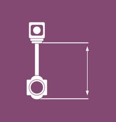 Icon car piston and arrows vector