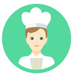 Icon man cook in a flat style image on a vector