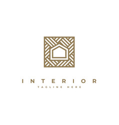 Interior logo design inspiration symbol vector