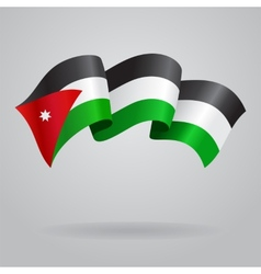 Jordan waving Flag vector