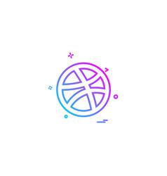 media network social dribbble icon designn vector image
