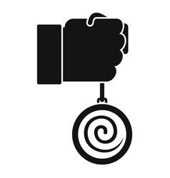 Mental hypnosis pendulum icon simple style vector