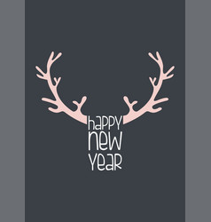 merry christmas greeting card with abstract deer vector image