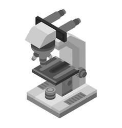 microscope icon isometric style vector image