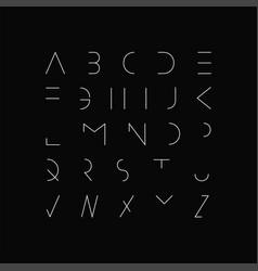 minimal font - modern futuristic design vector image