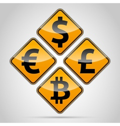 Money sign board set vector image
