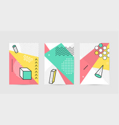 poster design with geometric graphic elements vector image