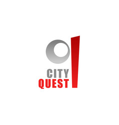q letter icon for city quest vector image