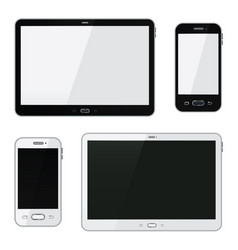 realistic smartphone and tablet vector image