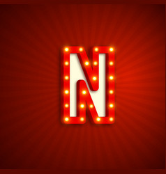 Retro style letter n vector