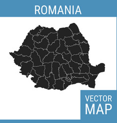 Romania map with title vector