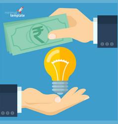 Rupee for bright idea vector