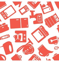 Seamless pattern with electronic appliances vector