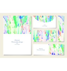 Set of business card and invitation card vector