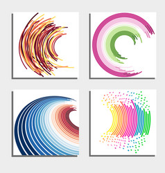 set of four beautiful abstract backgrounds vector image