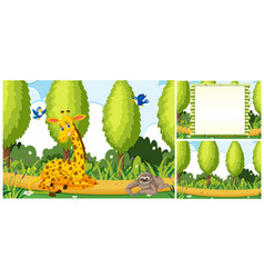 set of nature template vector image