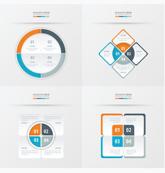 set of presentation template orange blue gray vector image
