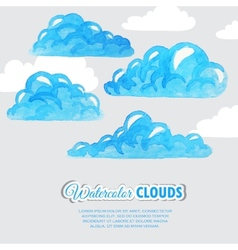 Set of watercolor clouds Weather icons vector image