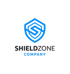 Shield with initial s logo design vector