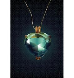 Shiny valentines diamond hearts vector