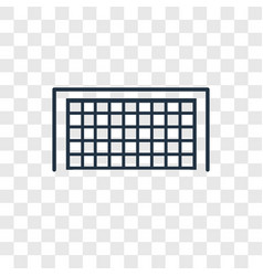 soccer goal concept linear icon isolated on vector image