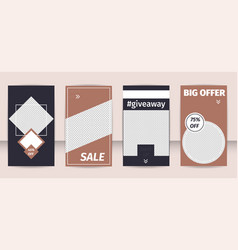 Special offers template flat set popular hashtag vector