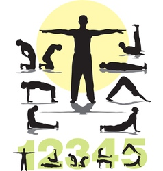 Tibetans yoga vector image
