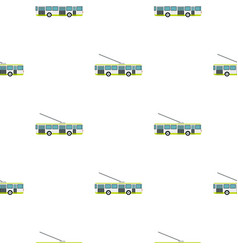 Trolley bus pattern flat vector