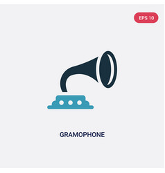 Two color gramophone icon from united states vector