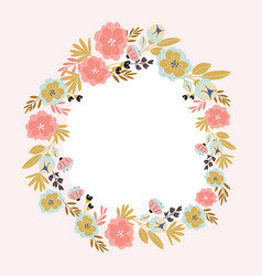 Vertical banner with spring flowers in bloom vector