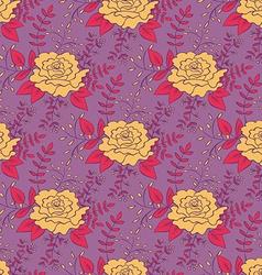 Vintage Rose Seamless Pattern vector image