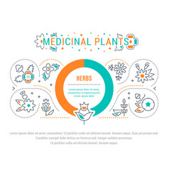 Website banner and landing page medicinal vector