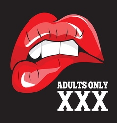ADULTS ONLY XXX 2 vector image