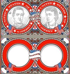 American Vintage Patriot Wedding Invite vector image vector image
