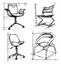 chairs drawings vector image