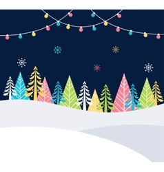 Christmas and winter holidays events festive vector