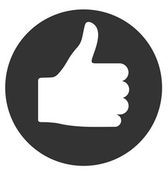 thumb up flat icon vector image
