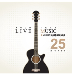 acoustic guitar on a bei vector image vector image