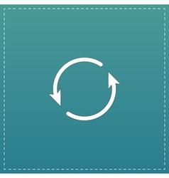 Arrow circle icon - cycle loop roundabout vector image