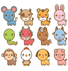 Chinese Zodiac animal vector image vector image