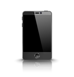 Dark modern smart phone with black screen isolated vector image