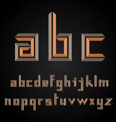 decorative alphabet design vector image