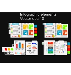 Infographic notebook vector image