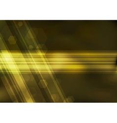 Transparent golden bokeh background vector image