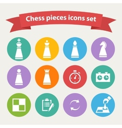 Chess pieces white icons set vector image
