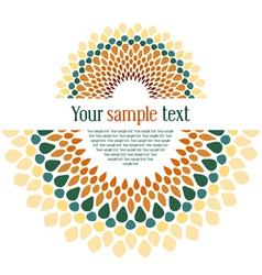 design textual card vector image