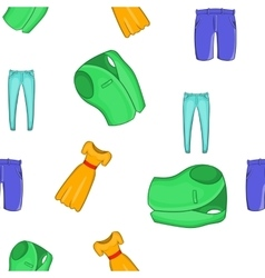 Different clothes pattern cartoon style vector image vector image