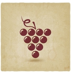 grapes old background vector image