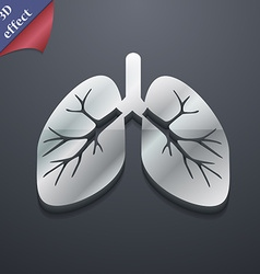 Lungs icon symbol 3D style Trendy modern design vector image